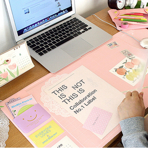 Image 2 - Korea Hot Sale Kawaii Candy Color Office Mat Multifunctional Weekly Planner Organizer Desk Table Storage Memo Mat Learning Pad