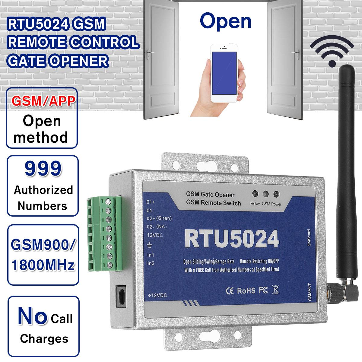 Upgrade RTU5024 GSM Gate Opener Relay Switch Remote Access Control Phone Shake Wireless Door Opener By Free Call App Support