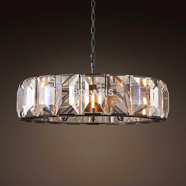 Роскошная винтажная Подвеска из хрустальной люстры Висячие световые люстры лампа для Домашний Декор отеля