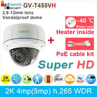 Heater 40 C Use H 265 2K UHD 4 720P Ip Camera With Poe Cable Kit