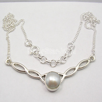 Chanti International Silver AAA FRESH WATER PEARL LADIES' JEWELRY Necklace 18 1/4 Inches