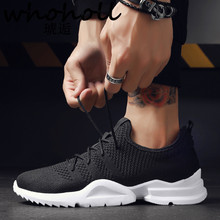 WHOHOLL 2018 Summer New Men Breathable White Shoes Male Casual Sneakers Mesh Vulcanized Wild Fashion Lace-Up