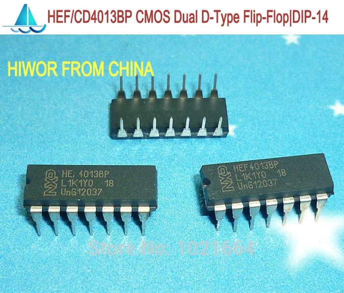 100 Pcs CD4013BE DIP-14 CD4013 CMOS Dual D-Type Flip-Flop