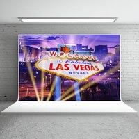 Kate Las Vegas Cidade Fotografia Backdrops 10x10ft Partido Palco Estúdio Fundo Da Foto Do Partido Casino Fundos Para Estúdio de Fotografia