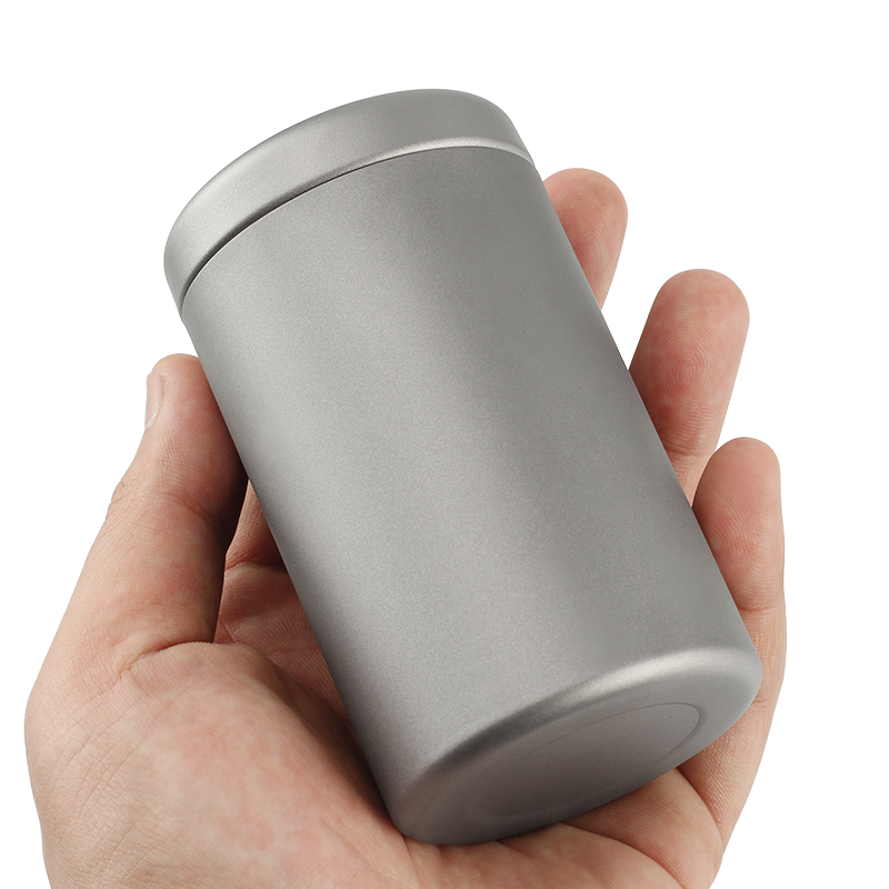 250ML EDC Scrub Ultra thin Tea Can Titanium Storage Box Portable Outdoor Titanium Tool Box Titanium