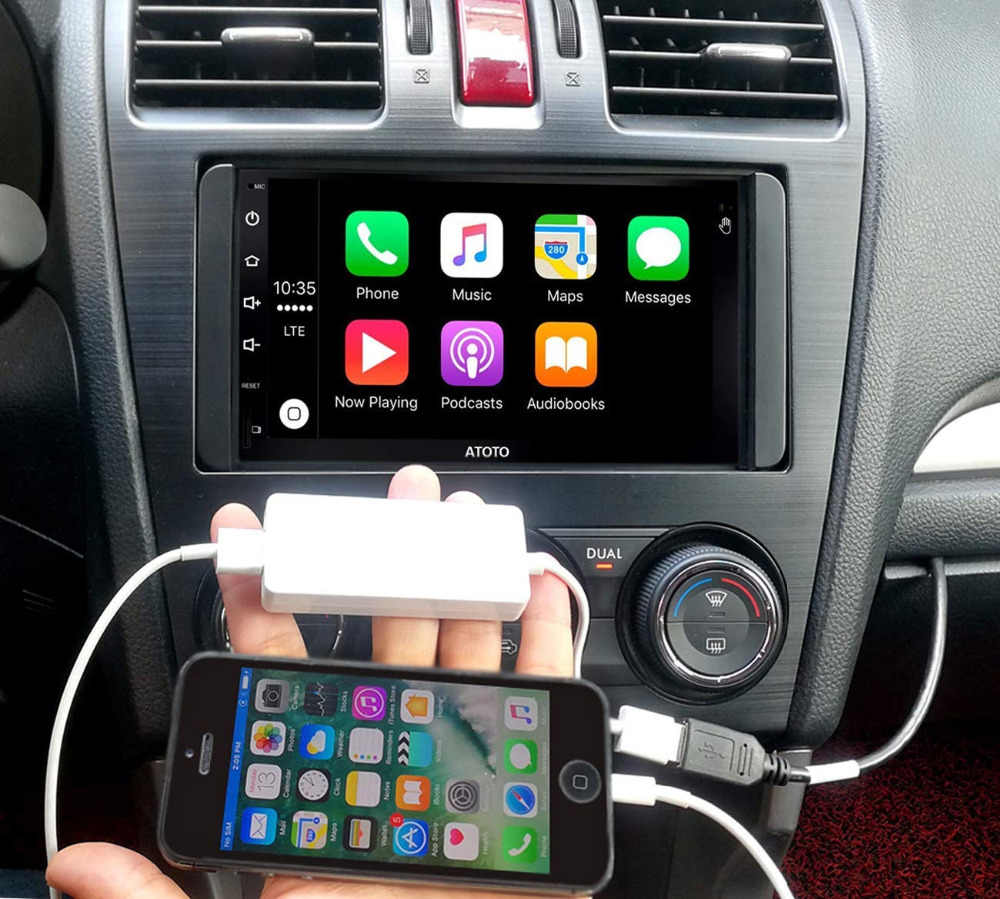 ATOTO AC-CPAA48 Adapter USB do smartfona-umieść apple carplay/Android Auto w adapterze USB! Dla ATOTO A6 i innego radia z androidem