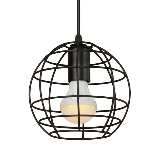 Loft Style Industrial Vintage Circular Iron Droplight Creative LED ...