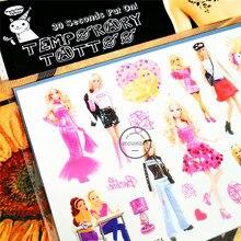SHNAPIGN Pinky Babie Child Temporary Tattoo Body Art Flash Tattoo Stickers 17*10cm Waterproof Henna Tatoo Car Styling Sticker
