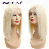 Короткий Боб парики 613 блондинка бесклеевой Синтетические волосы на кружеве человеческих волос парики для черный Для женщин парик бразильс