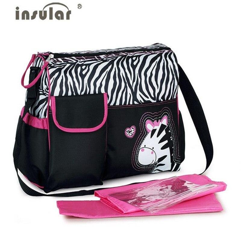 2019 été Style Animal bébé sac à couches momie Nappy zèbre ou girafe Babyboom multifonctionnel mode infanticiper épaule