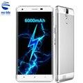 Original k6000 oukitel pro 4g smartphone mtk6753 octa core android 6.0 3 GB RAM 32 GB ROM 5.5 ''de Pantalla 13.0MP 6000 mAh Móvil teléfono
