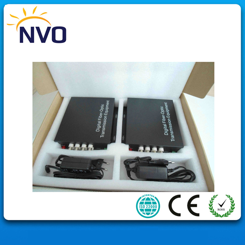 20KM, 4 Ch Video+1ch Reverse Data Mini Video Transceiver Fiber Optic Video Converter20KM, 4 Ch Video+1ch Reverse Data Mini Video Transceiver Fiber Optic Video Converter