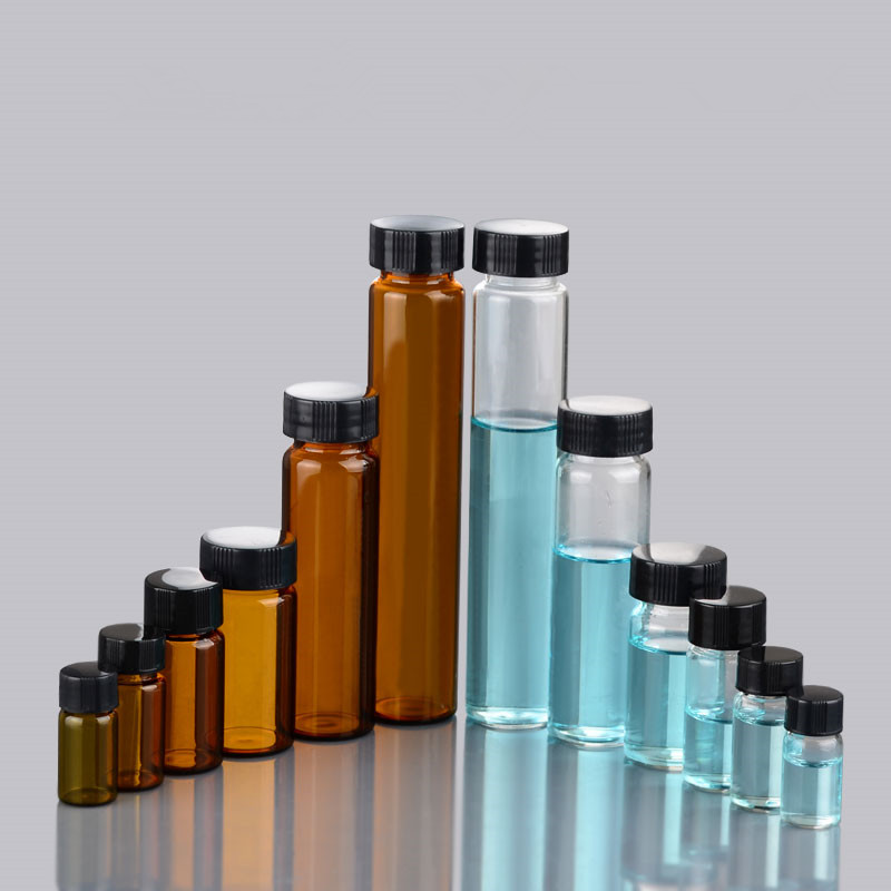 360 x 3ml 5ml 10ml 15ml <font><b>20ml</b></font> 30ml 40ml 50ml 60ml Clear <font><b>Glass</b></font> <font><b>Bottle</b></font> <font><b>with</b></font> <font><b>Screw</b></font> <font><b>Cap</b></font> Orifice Reducer of Essential Oil Sample <font><b>Vial</b></font> image