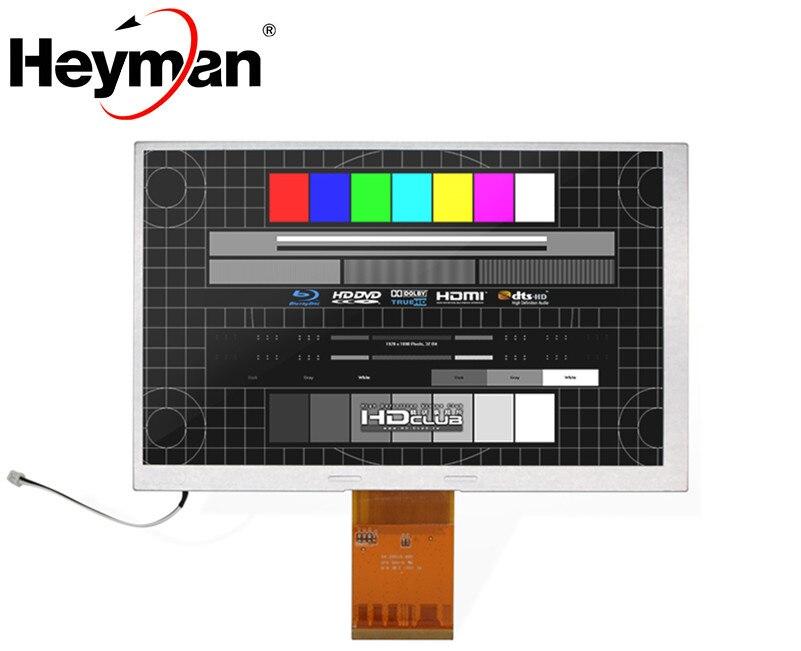 Pantalla LCD para coche Heyman de 7 pulgadas A070VW08 V2, pantalla táctil resistiva de 4 cables de 165x104, DVD LCD para navegación de coche