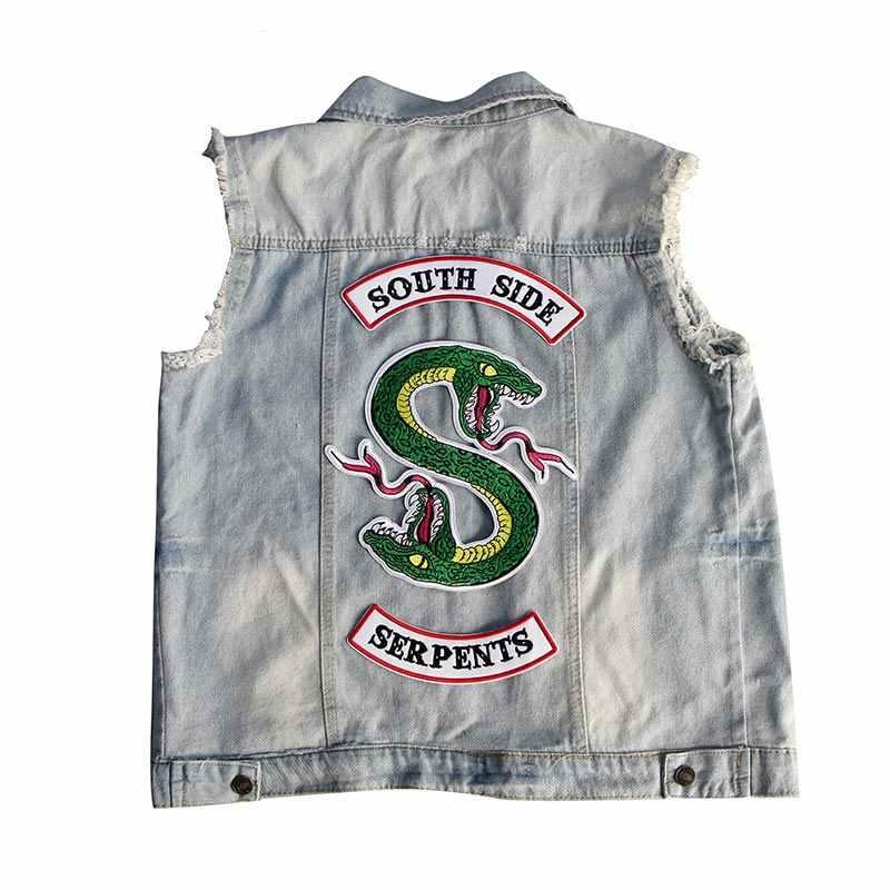 COSBILL южная сторона змеиная нашивка железная заплатка для одежды куртка толстовки аппликация ривердейл ТВ-шоу змея вышитые Y-196