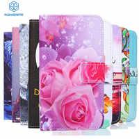 Nowy dla BQ 5020 BQ Strike BQS 5020 BQS-5020 Effiel wieża kwiat pokrywa stojak styl klapki skórzane etui portfel karty uchwyt na