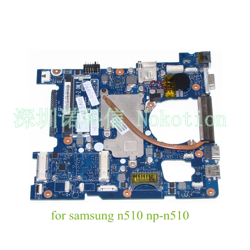 NOKOTION BA41-01102A BA92-05695A BA92-05695B For SAMSUNG N510 NP-N510 laptop motherboard n270 cpu DDR2  warranty 60 days nokotion sps v000198120 for toshiba satellite a500 a505 motherboard intel gm45 ddr2 6050a2323101 mb a01