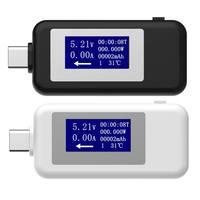 Detector de cargador multifunción tipo C USB  voltímetro de pantalla Digital DC  voltímetro  voltímetro  Detector Usb|Medidores de voltaje| |  -