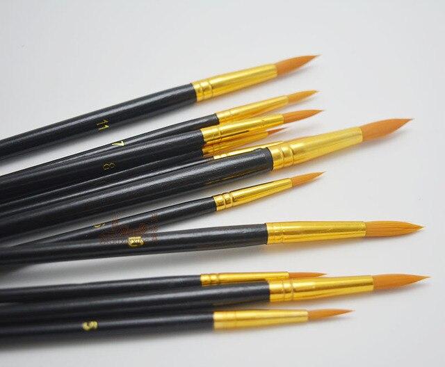 Set Of 12 Premium Art Brushes Nylon Acrylic Paint By Number Set