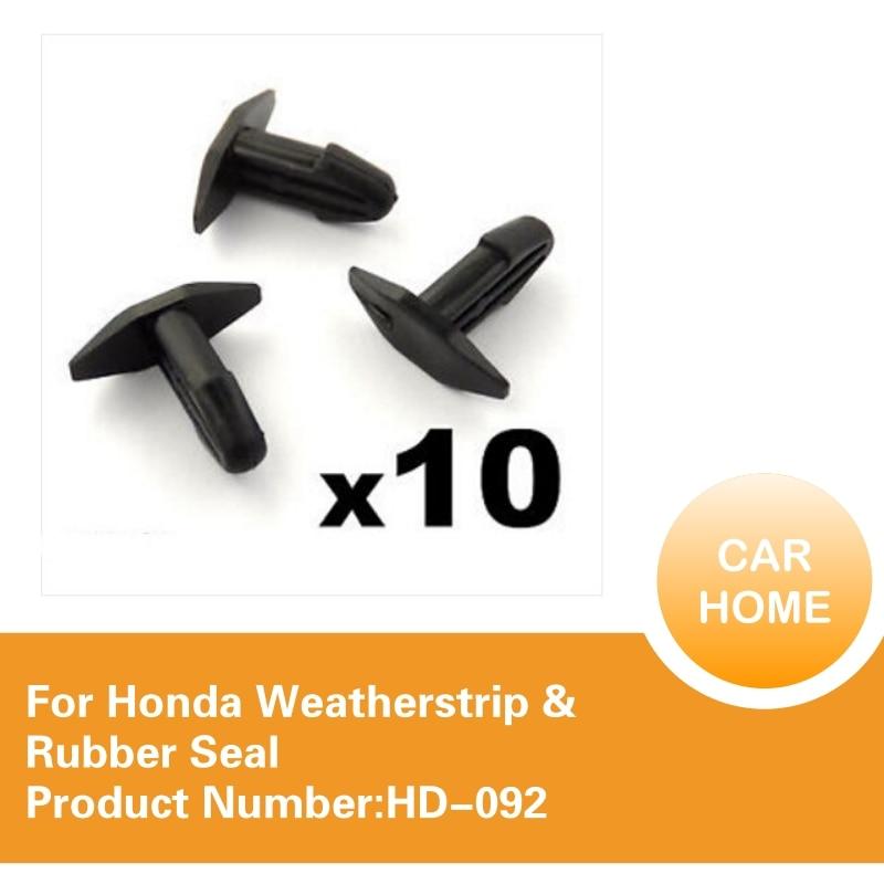 Cowl Vent Bonnet Fan Intake Seal Clips 10x Honda Rubber Seal Weatherstrip Clips