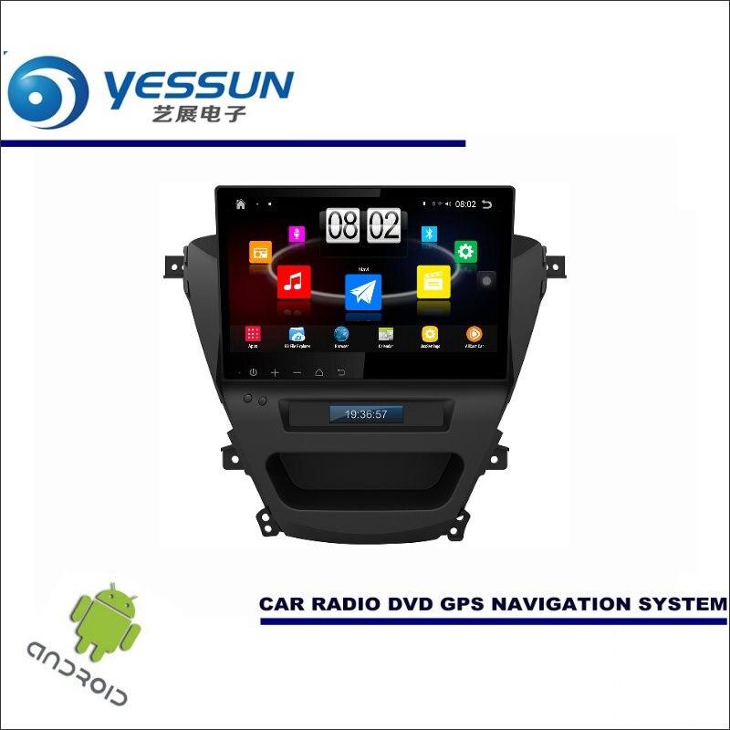 Yessun автомобиля Android мультимедийный плеер для Hyundai Elantra 2013 ~ 2015-Радио стерео GPS Географические карты nav Navi (без CD DVD) 10.1 HD Экран