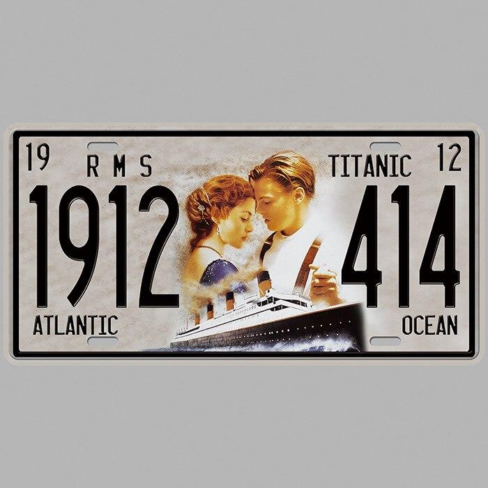Car Plates License Number Plate Garage Plaque Metal Tin Sign Bar Decor Plaque Metal Decoracao Para Casa Shabby Chic Home Decor