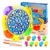 Classical Fishing Toys Set Kids Educational Toys Electric Magnetic Rotating Fishing Game Funny Sports Toys Interactional