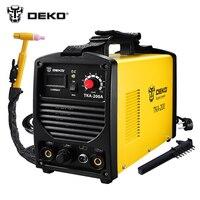 DEKO TKA 200 200A 5.8KVA IP21S Inverter Arc TIG 2 IN 1 Electric Welding Machine MMA Welder for Soldering Working