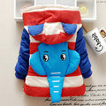 1-5 Year Baby Boy Girls Winter Jackets Long Sleeve Cotton Coats Elephant Design Heavy Warm Cute Christmas Gift Kids Clothing