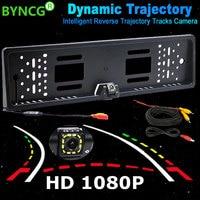 BYNCG Intelligent Dynamic Trajectory Tracks Rear View Camera HD CCD Reverse Backup Camera Auto Reversing Parking Assistance