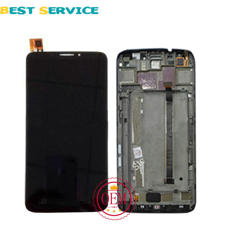 100% Tested New For Alcatel One Touch Hero 8020 OT8020 LCD Screen Display + Touch Screen Digitizer Assembly with Frame Black