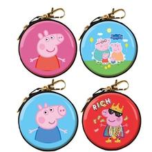 New Peppa Pig George Coin Purse  Plush Toys Dolls Kids Girls Boys Kawaii Kindergarten Bag Wallet Backpack Children Gift цена 2017