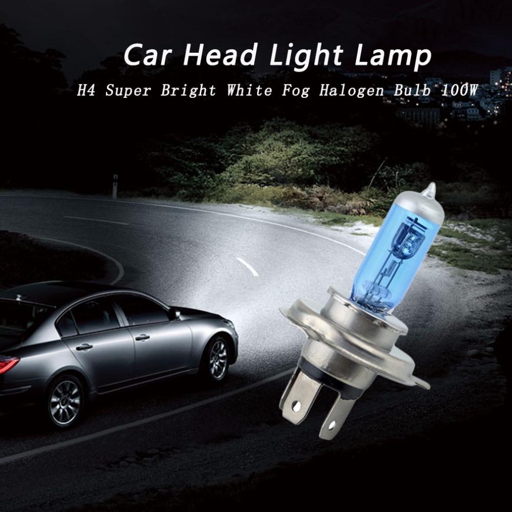 New H4 100W 12V Halogen Bulb h4 super white Fog Lights High Power Car Headlights Lamp Car Light Source 6000K parking hot selling