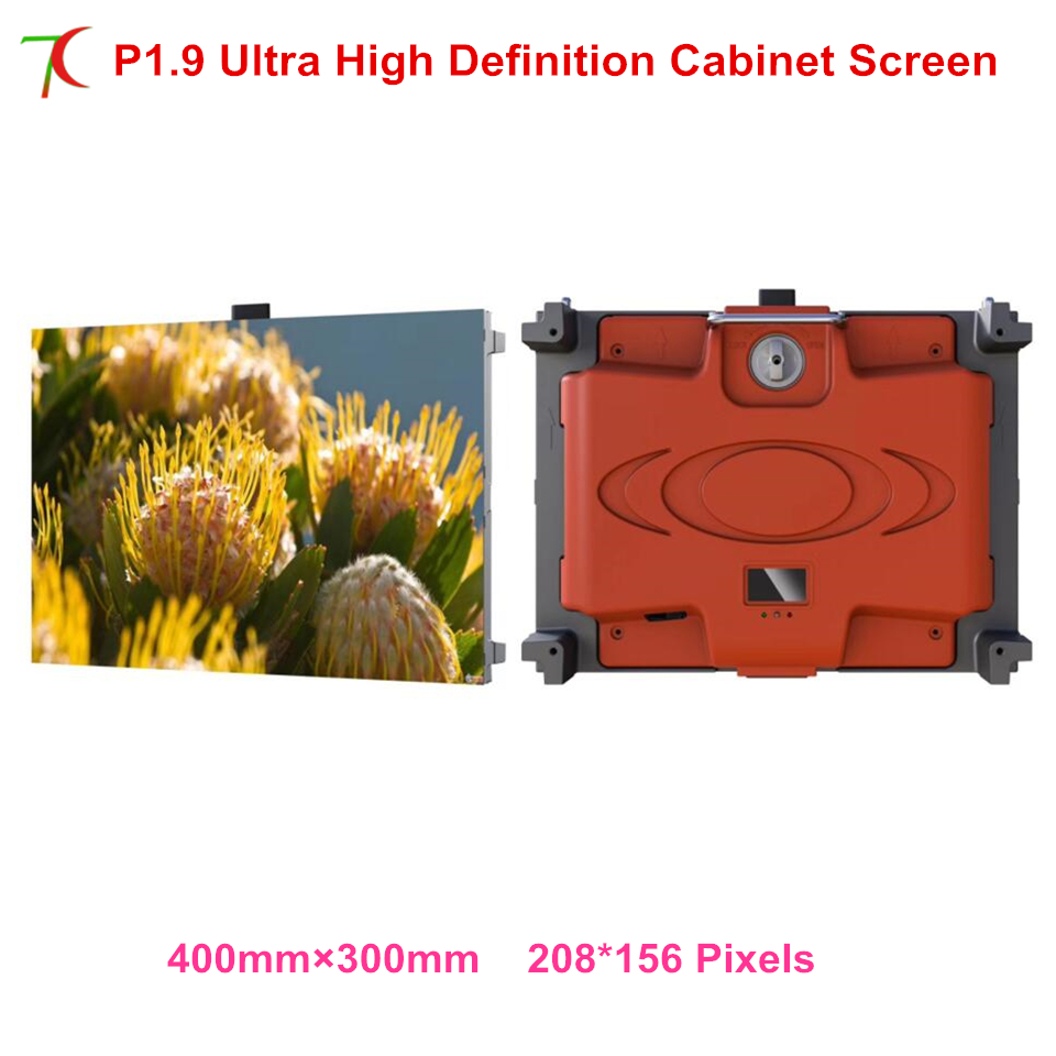 Ultra high definition P1.9 indoor 400*300mm die-casting aluminum cabinet screen for led display,270.400pixels/sqm