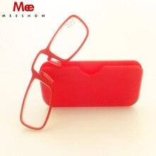 2pcs Ultralight Mini Nose Clip On Reading Glasses Adhersive Tr90 Podreader Power +1.0-+3.5 Portable Wallet Reader With Case