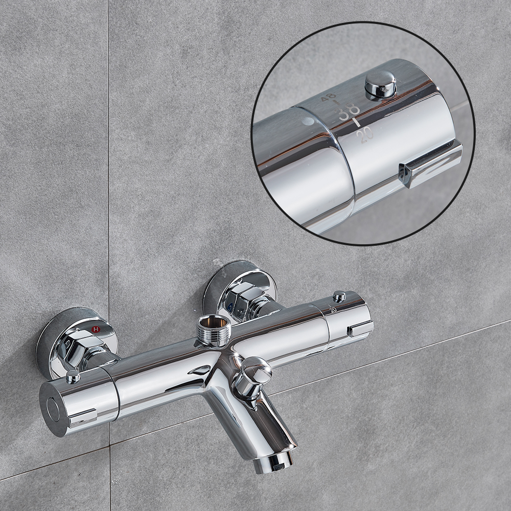 HTB1JHpQX0fvK1RjSspfq6zzXFXaJ fmhjfisd Bathtub Shower Faucet Thermostatic Valve Wall Mounted Dual Handle Auto-Thermostat Control Valve Bath Tap for Bathroom