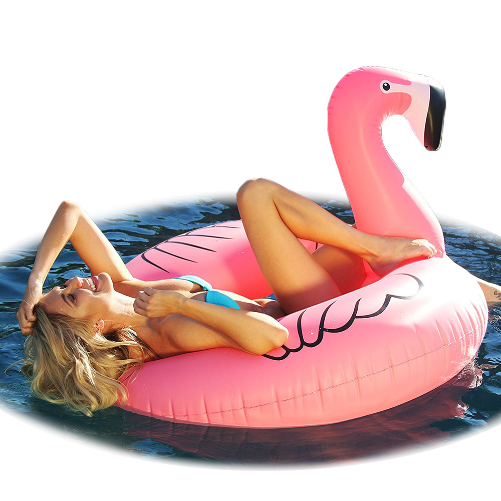 Flotteur gonflable géant de piscine de 115 cm pour le jouet d'amusement de cercle gonflable d'enfant de Sports nautiques d'anneau de natation de F rose adulte