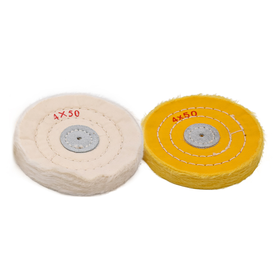 Goxawee 2pcs 4 Quot Buffing Wheels For Bench Grinder Buffing