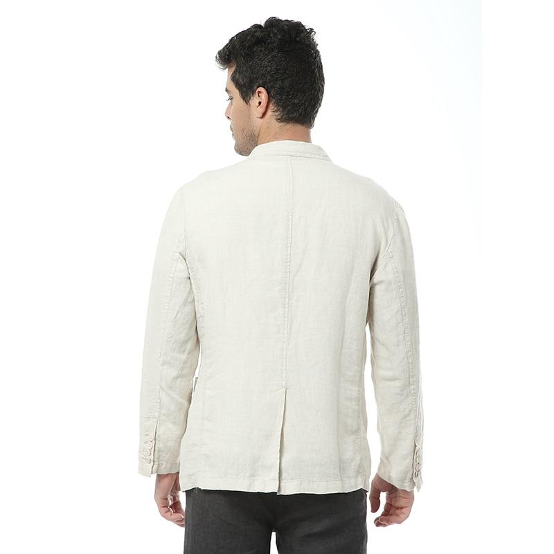 2017 Nieuwe stijl Britse trend linnen jas mannen casual pak 100% vlas merk kleding pakken mannen mode blazer masculino-in Blazers van Mannenkleding op  Groep 2