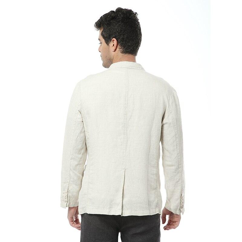 2017 nouveau style britannique tendance lin veste hommes décontractée costume 100% lin marque vêtements d'affaires costumes hommes mode blazer masculino-in Blazers from Vêtements homme    2