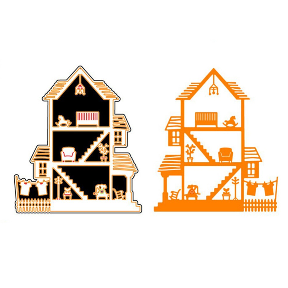 109x126mm House Metal Steel Cutting Dies Stencils For New Baby