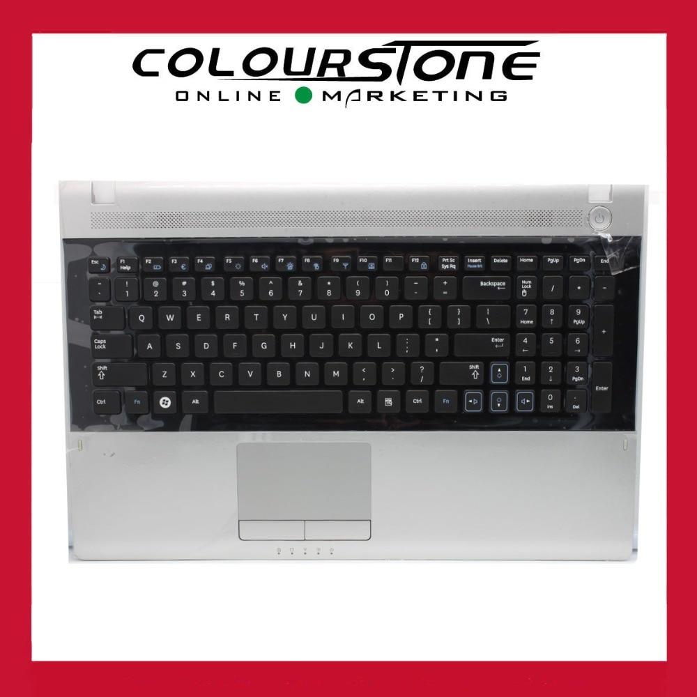 US Black Keyboard with silver Palmrest Touchpad For Samsung NP RV509 RV511 RV515 RV520 9Z.N5QSN.B01