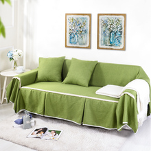 SunnyRain Solid Sofa Cover Sectional Sofa Covers l shaped sofa cover Couch Cover Machine Washable