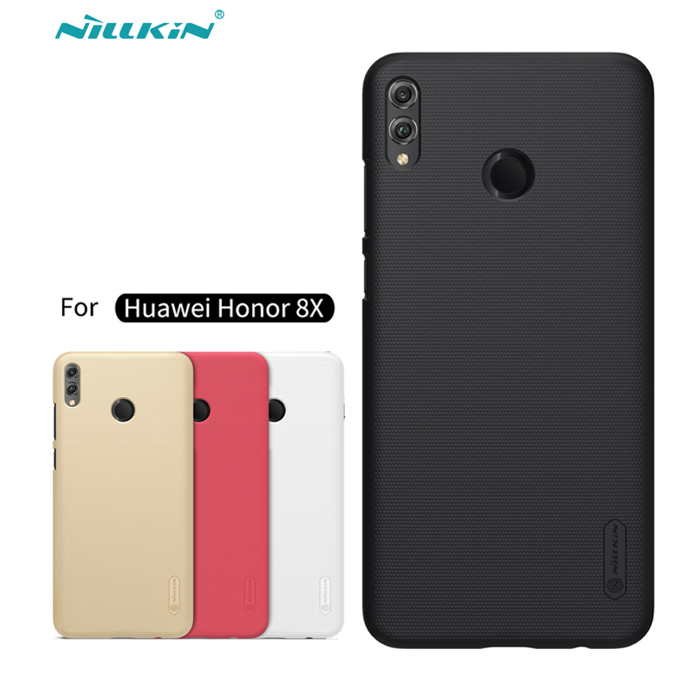 Huawei Honor 8X Case Cover Nillkin Frosted Shield Hard Back Matte Case For Huawei Honor 8X Max PC Bumper Gift Holder
