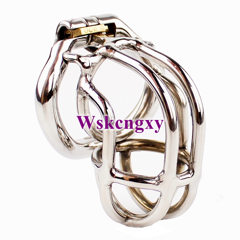 Small Male Chastity Devices 2.16 Stainless Steel Chastity Cage Arc-Shaped Cock Ring Penis Ring Sex Toys For MenSmall Male Chastity Devices 2.16 Stainless Steel Chastity Cage Arc-Shaped Cock Ring Penis Ring Sex Toys For Men