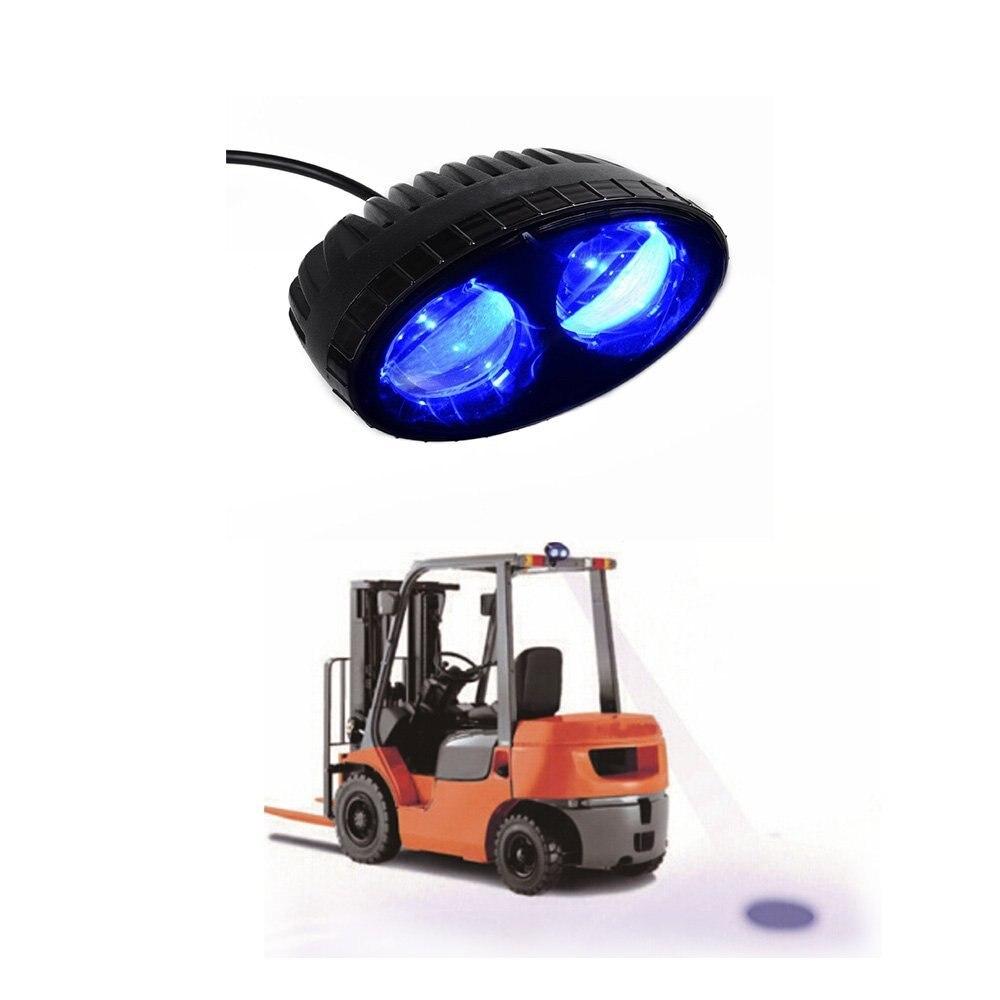 Blue Forklift Led Light Warehouse Safety Warning Lamp Spot Offroad Race 12V 48V 10pcs x red blue zone forklift danger zone warning light 10 80v 18w red safety zone warning led work lamp