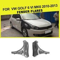 Авто Стайлинг корпус из углеродного волокна крылья вспышек сбоку для Volkswagen VW GOLF 6 VI MK6 2010 2013 автомобильные аксессуары