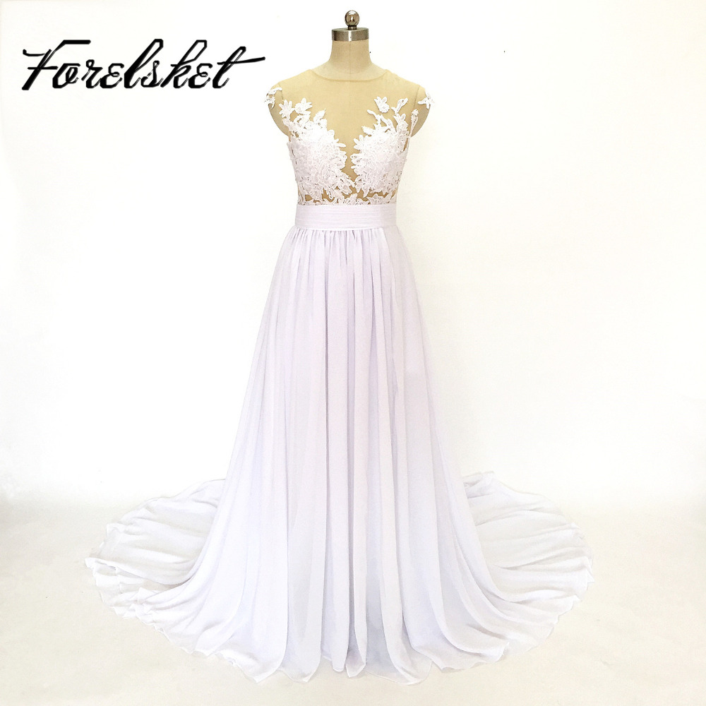 2016 New Arrival Chiffon Beach Wedding Dresses Affordable