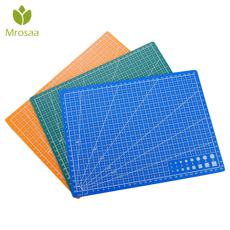 A4 PVC Cutting Mat Cutting Pad Patchwork Cut Pad A4 Patchwork Tools Manual DIY Tool Cutting Board Double-sided Self-healing