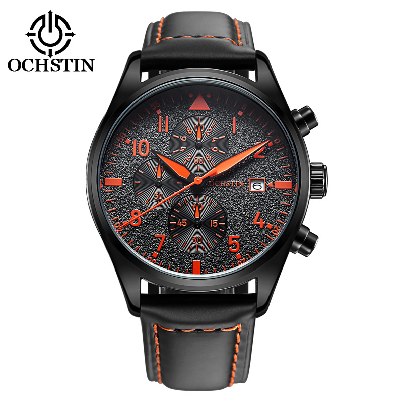 relogio masculino OCHSTIN Watch Men Military Quartz Watch Chronograph Mens Watches Top Brand Luxury Leather Sports